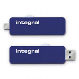 Integral INFD64GBSLDOTG3.0NRP - Clé USB 3.0 Slide OTG 64 Go