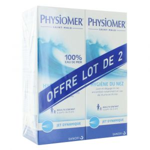 Physiomer Sanofi France - Jet dynamique pour enfants et adultes (lot de 2 x 135 ml)