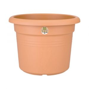 Elho 2055349 Green Basics Cilinder Pot De Fleurs Marron/Rouge 25 X 25 X 18 Cm