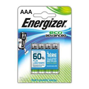 Energizer 4 piles LR3 AAA EcoAdvanced
