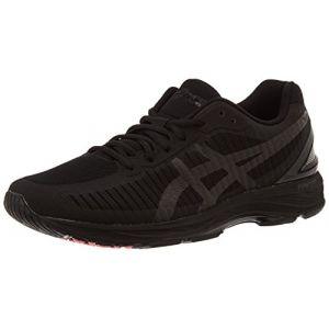 Asics Gel-DS Trainer 23, Running Homme, Noir (Black/Black/Flash Coral 9090), 42.5 EU