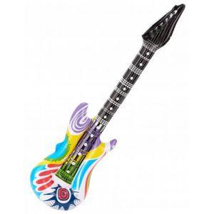 Guitare rock gonflable bariolée Taille Unique