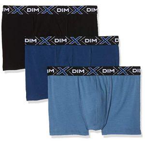 DIM Boxer Homme Bleu Et Noir X-temp T3 - Le Lot De 3 Boxers