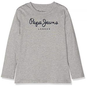 Pepe Jeans T-shirt enfant Tee Shirt manches longues Enfant New Herman Jr Gris - Taille 12 ans
