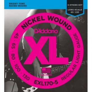 D'Addario EXL170-5 jeu de 5 cordes pour basse électrique - 045/130