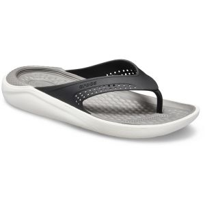 Crocs LiteRide Flip Sandals Unisex, black/smoke EU 41-42 Tongs