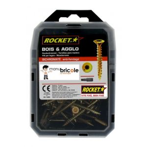 Rocket Vis bois anti-fendage - - 4 x 40 - TX 20 - Vybac de 150