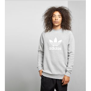 Adidas Sweat-shirt Trefoil Warm Up Crew Gris - Taille EU M,EU L