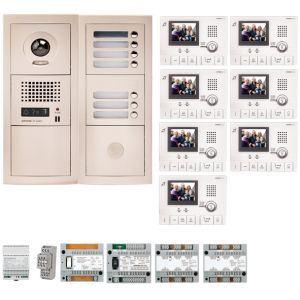 Aiphone GTV7E - Pack vidéo 7 BP avec 7 moniteurs GT1CL préprogrammés (200316)