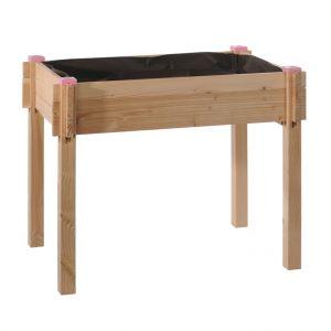 Potager surélevé en bois pour enfant 90x60x54cm