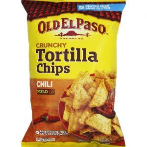 Old el paso Crunchy Tortilla Chips chili - Le sachet de 185g