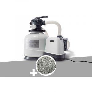 Intex Groupe de filtration à sable 8 m³/h + 20 kg de zéolite