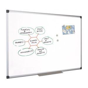 Mystbrand 48651 - Tableau blanc émaillé avec auget (120 x 240 cm)