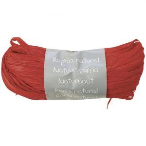 Maildor 196006C Pelote raphia naturel 50 g Rouge