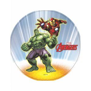 Disque azyme Hulk et Iron Man Avengers