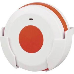 Heidemann Sonnette sans fil 70371 Emetteur 100 m blanc, rouge