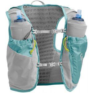 Camelbak Gilet dhydratation Ultra Pro 6l+2 Quick Stow Flasks - Aqua Sea / Silver - Taille L