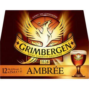 Grimbergen Bière ambrée - Pack de 6 x 25 cl