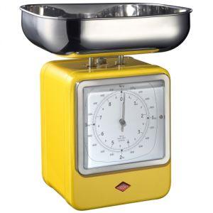 Wesco 85609 - Balance de cuisine mécanique avec horloge