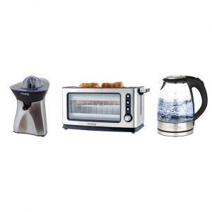 H.Koenig VIEW6 BO28 AGR60 - Set petit déjeuner : toasteur bouilloire et presse agrumes