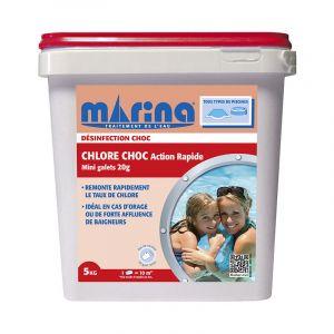 Marina Chlore choc Action Rapide 5kg - Mini Galets de 20g