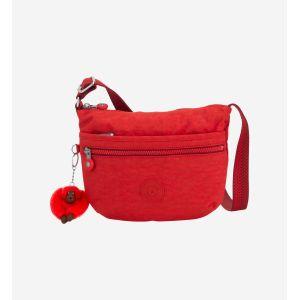 Kipling Arto S, Sacs bandoulière femme, Rouge (Active Red)