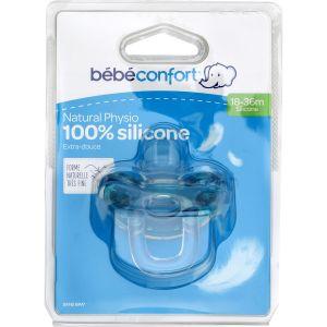 Bébé Confort Sucettes Physio 18-36m Silicone Bleu - La Sucette