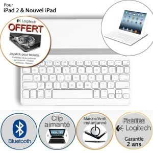 Logitech UltraThin Keyboard Cover iPad - Coque Clavier sans fil bluetooth pour iPad 2, iPad (3rd & 4th Generation).