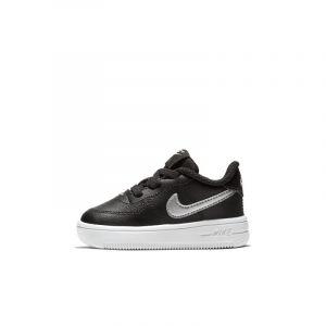 Nike Chaussure de basket-ball Chaussure Air Force 1 pour Bébé et Petit enfant - Noir Taille 18.5