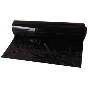 Majuscule Film étirable noir 0,45x300m - 20 microns - Lot de 6 rouleaux
