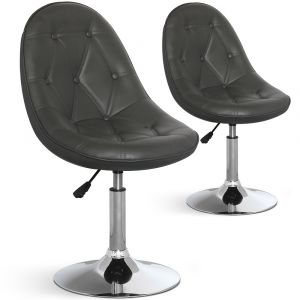 Declikdeco Lot de 2 chaises ajustables Valende Gris