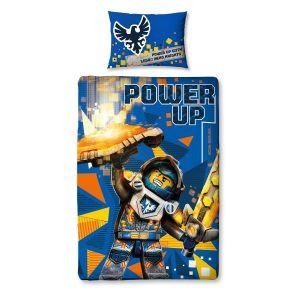 Character World Parure de lit réversible Lego Chevalier Nexo Knights (140 x 200 cm)