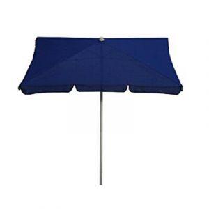 Pegane Parasol rectangulaire centré coloris bleu Dim : H 250 x D 185x125/4 cm