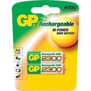 GP Batteries 2 piles rechargeables AA 2300 mAh NiMH