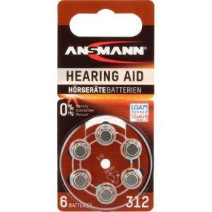 Ansmann PR41 - Zinc Air Modèle n° 312 - Piles pour appareils auditifs