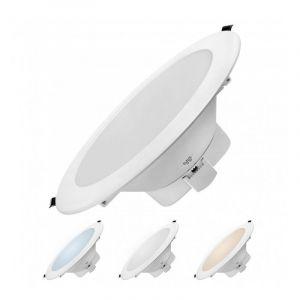Delitech Encastrable LED 20W - Dimmable - Triple couleur de blanc - NOVA