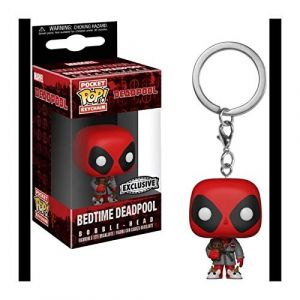 Funko Porte Clé Marvel - Deadpool Bedtime Exclu Pocket Pop 4cm