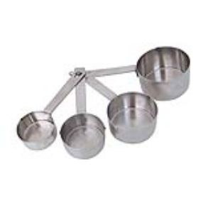 De Buyer 4827.01 - 4 cuillères mesures en inox (1 / 2,5 / 5 /15 ml)
