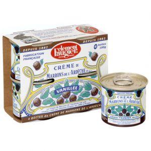 Clément faugier Crème de marrons de l'ardèche - Le lot de 4 boîtes de 100g