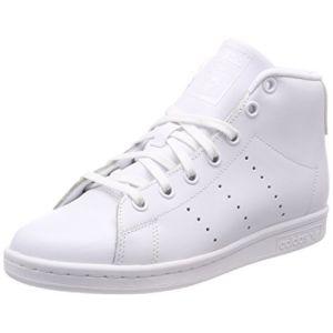 Adidas Stan Smith Mid, Baskets Hautes Mixte Enfant, Blanc (Footwear White/Footwear White/Footwear White 0), 36 2/3 EU