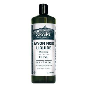 La Corvette Savon Noir Liquide Olive Ecocert 1L