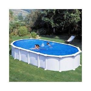 Gre Kit piscine hors sol haïti ovale avec renforts en u 730 x 375 x 132 cm