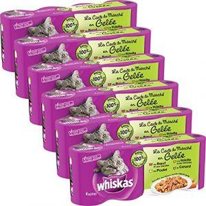 Whiskas Émincés en gelée pour chat 4 x 390 g (Lot de 6)