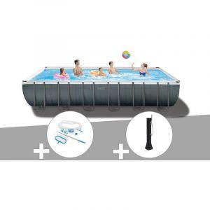 Intex Kit piscine tubulaire Ultra XTR Frame rectangulaire 7,32 x 3,66 x 1,32 m + Kit d'entretien + Douche solaire