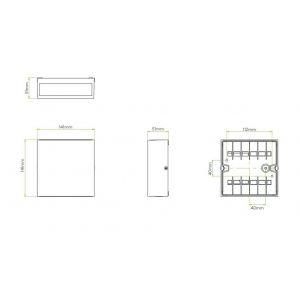 Astro Applique Elis Single LED pour extérieur - IP54 - Blanc
