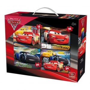 King International 4 puzzles Cars 3 Disney (12 à 24 pièces)