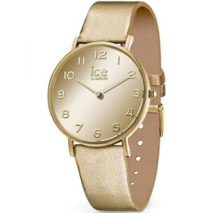 Ice Watch Montre Ice-Watch City Mirror En Cuir Jaune