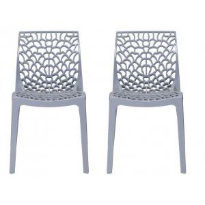 Declikdeco Chaise Design Grise Opaque FILET