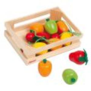 Janod Cagette en bois de 12 fruits