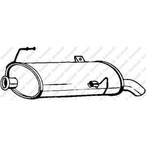 Bosal Silencieux arrière 190-505